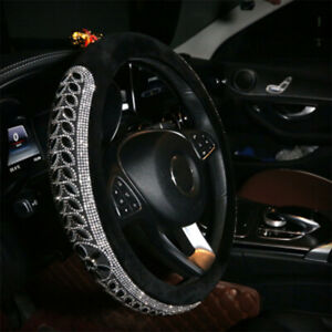 Leather Car Steering Wheel Cover For Women Girl Steering Wrap Protector Anti Sli
