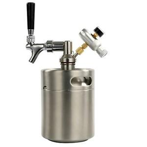 Homebrew Beer Keg System Kit 64oz With A Beer Dispensor Mini Co2 Regulator Us