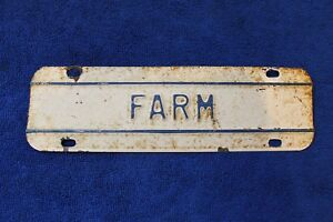 Vintage Farm Pickup Truck Accessory License Plate Topper Gmc Ford Studebaker