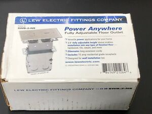 Electrical Floor Box With Outlet Nickel Cover Plate Lew Electric Swb 2 ns