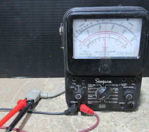 Tested working Simpson 260 Series Battery Powered Analog Volt ohm Meter