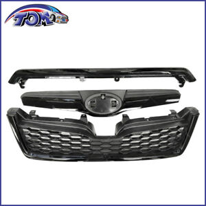 Front Upper Grille Assembly For Subaru Forester 2014 2018 Sti Style Black Grill