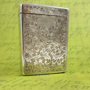 Vintage Sterling Silver 950 Cigarette Case Stash Box 1940 S