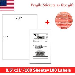 8 5 x11 Full Sheet Shipping Address Labels Self Adhesive For Laer Iinkjet Ups