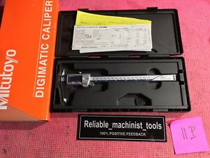 Carbide Od Jaws Mitutoyo Japan Made 8 In Absolute Digital Caliper Ip67 11p