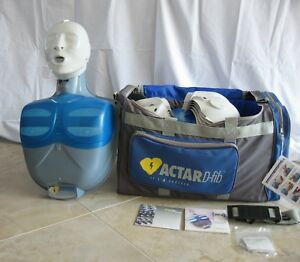Actar D fib Adult Cpr Aed Manikins 10 pack W Bag Lungs Dvd Cd Instructions