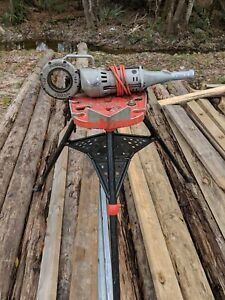 Ridgid 700 Power Drive Pipe Threader 41935 115v With Tri Stand 460 6 Dies Cutter