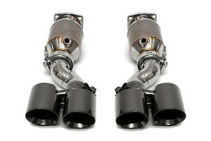 Fabspeed 997 Turbo Muffler Bypass Exhaust System W Sport Cats Black Chrome