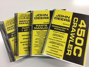 John Deere 450c Crawler Dozer Loader Service Operators Parts Manual 1 000 Pages