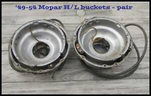 1949 1954 Plymouth Headlight Buckets Pair Chrysler Dodge Desoto 1950 1953 Truck