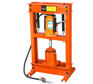 20 Ton Industrial Hydraulic Shop Press Shape Manipulate Strong Metal Air Manual