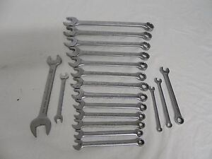 Proto Challenger 18 Piece Sae metric Combo Wrench open End Wrench Lot