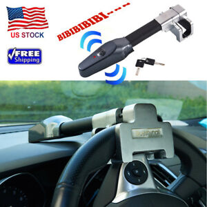 Universal Steering Wheel Lock Vehicle Car Security Key Alarm T lock Anti Theft