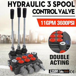 3 Spool Hydraulic Directional Control Valve 11gpm Cylinder Spool Small Tractors