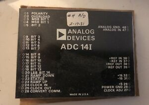 Analog Devices 14i Vintage A d Converter Ti Surplus