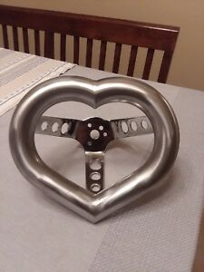 Heart Steering Wheel Oldschool Lowrider Rat Rod Rockabilly 1970s 70s Boman