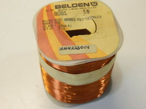 Belden 8081 Copper Magnet Wire Heavy Armored Poly thermaleze 30awg 1lb 3140
