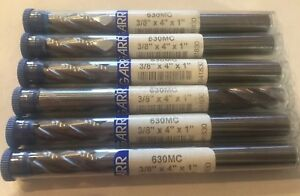 Garr Cadbide Endmills 3 8 X 4 lot Of 6