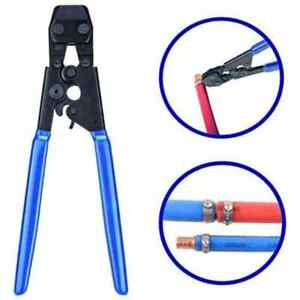 Pex Cinch Crimp Crimping Tool Plumbing Cutter With 30 1 2 Ss Clamps