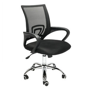 Ergonomic Adjustable Mesh Swivel Computer Office Desk Task Chair Mid back Black