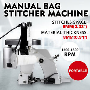 Industrial Sewing Machine Stitcher Quilting Tool 110v Sewing Speed Manual Bag