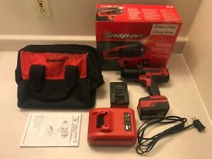 Snap On Ct8850 1 2 Impact Wrench Monster Lithium Kit 2 Batteries Charger Bag