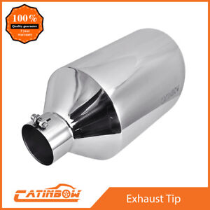 Diesel Stainless Steel Exhaust Tip Rolled Edge 4 Inlet 10 Outlet 18 Long