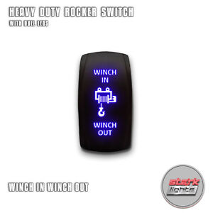 Blue Laser Led Rocker Switch Light 7 Pin 20a 12v On Off Winch In Winch Out A