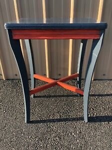 Antique 1930 S Painted Side Table Plant Stand