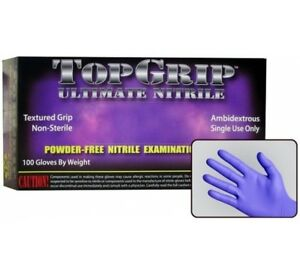Top Grip Ultimate Nitrile Box Of 100 Disposable Gloves Lot Of 10