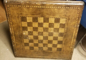 Vintage Samson Chess Checker Board Game Card Table