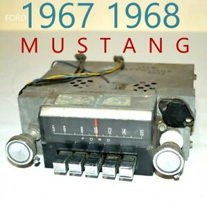 1967 1968 Ford Fomoco Classic Mustang Vintage Original Car Dash Radio Usa 7tpz