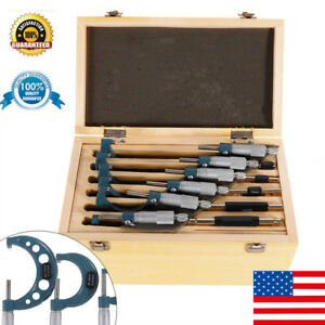 Outside Micrometer 6 Pcs set Metalworking Precision Outside Micrometers Ups