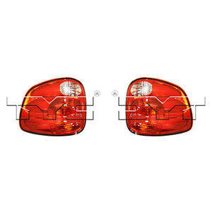 Fits 2000 2003 Ford F 150 Tail Light Driver Passenger Pair Nsf Flareside