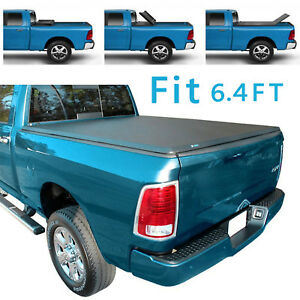 For 02 17 Dodge Ram 1500 2500 3500 6 4ft Short Bed Tri Fold Hard Tonneau Cover
