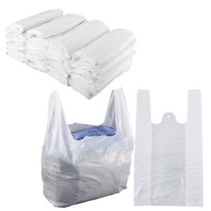 Lots Plastic Vest Carrier Bags Supermarket Stalls Takeaway Shopping Home Storage