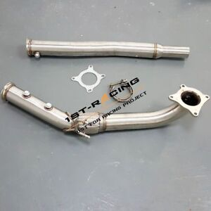 3 Turbo Catless Exhaust Downpipe Fit Vw Golf Mk5 Mk6 2 0l Tsi Awd Quattro 3inch