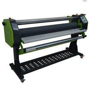 Toolots Semi auto Wide Format Hot Cold Laminator Single Roller Heating 63
