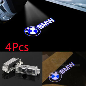 4x Led Logo Door Courtesy 3d Ghost Shadow Laser Puddle Lights Projector For Bmw