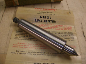 Nirol 3 Mt Spring Loaded Live Center W Needle Bearings