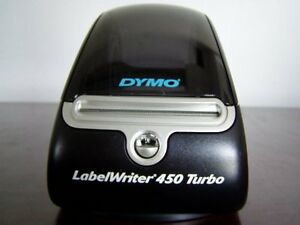 s6c Dymo 450 Turbo Label Thermal Printer W test Prints No Adapter Nor Cables