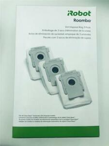 New Irobot Roomba Dirt Disposal Bag 3 Pack Fits All Clean Base Models I7 Vacuum