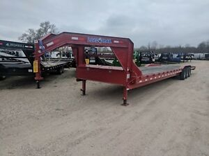 40 Foot Carhauler equipment Gooseneck Trailer load Trail red brand New