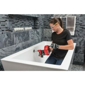 Plumber Snake Drain Cleaner Clogged Manual Auto Declogger Tool Sink Pipe Drill