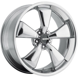 1 New 20x8 5 Cragar 617c Modern Muscle Chrome Wheel Rim 15 5x115