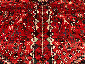5x7 Caucasian Rug Persian Wool Antique Hand Knotted Woven Made Oriental Rugs 4x7