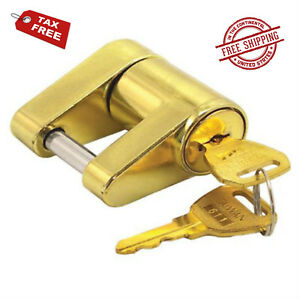 Trailer Coupler Lock Tow Bar Tongue Master Rv Hitch Receiver Safety Latch Tool