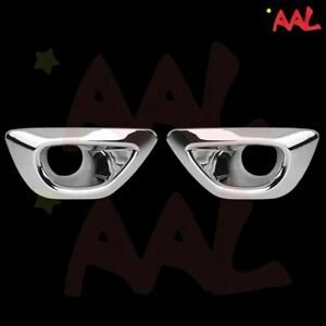 Aal For 2014 15 2016 Jeep Grand Cherokee Chrome Front Fog Lamp Light Cover