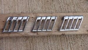 1940 Desoto Left Hood Side Air Vent Grilles Original Set Of 3