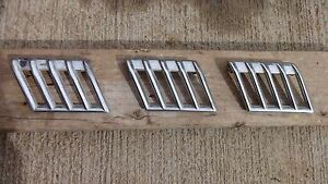 1940 Desoto Right Hood Side Air Vent Grilles Original Set Of 3